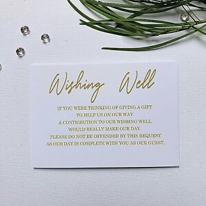 White Wishing Well Cards Simple