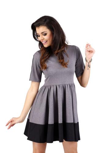 New Women Sheaf-waist Summer Ladies Dress Scoop Neck Short Sleeve 8-10//S-M Ann