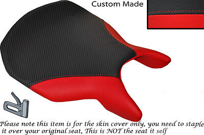 WHITE AND BLACK CUSTOM FITS DUCATI 749 999 FRONT LEATHER SEAT COVER