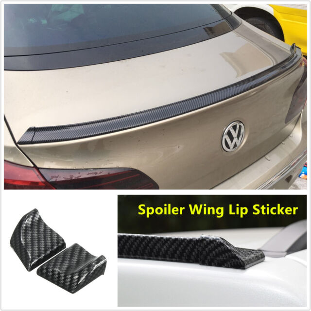 Universal Carbon Fiber Soft Styling Car Rear Roof Trunk Spoiler Wing Lip Sticker