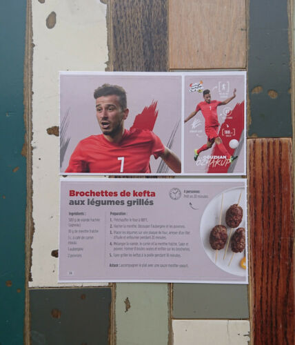 NEUF// no panini Stickers Carrefour Football Mange comme un Champion Foot