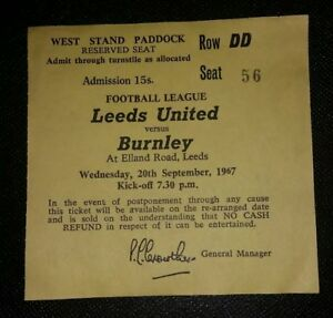 1967-68-Original-Division-un-Ticket-Leeds-United-vs-Burnley