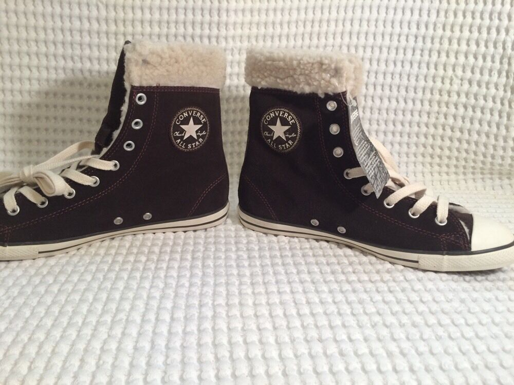 New Athletic Converse Chuck Taylor All Hi Star Dainty X Hi All Suede - Braun Sz 8 /39 bad6c4