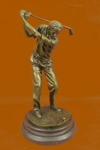 Macho-Golfista-Golf-Club-Pro-Tienda-Pga-Masters-Trofeo-Premio-Arte-Bronce-Marmol