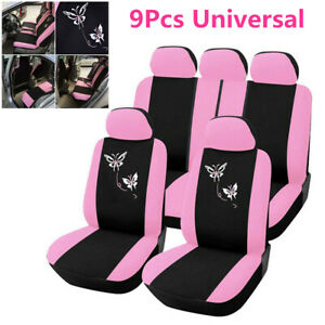 Pink-Car-Seat-Covers-Butterfly-Embroidery-Seat-Interior-Accessories-Car-Styling