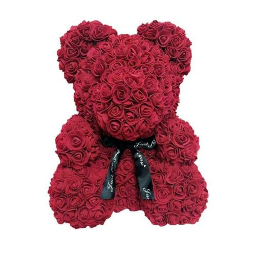 40cm Teddy Bear Of Rose Artificial Flowers Rose Bear For Women Valentines day