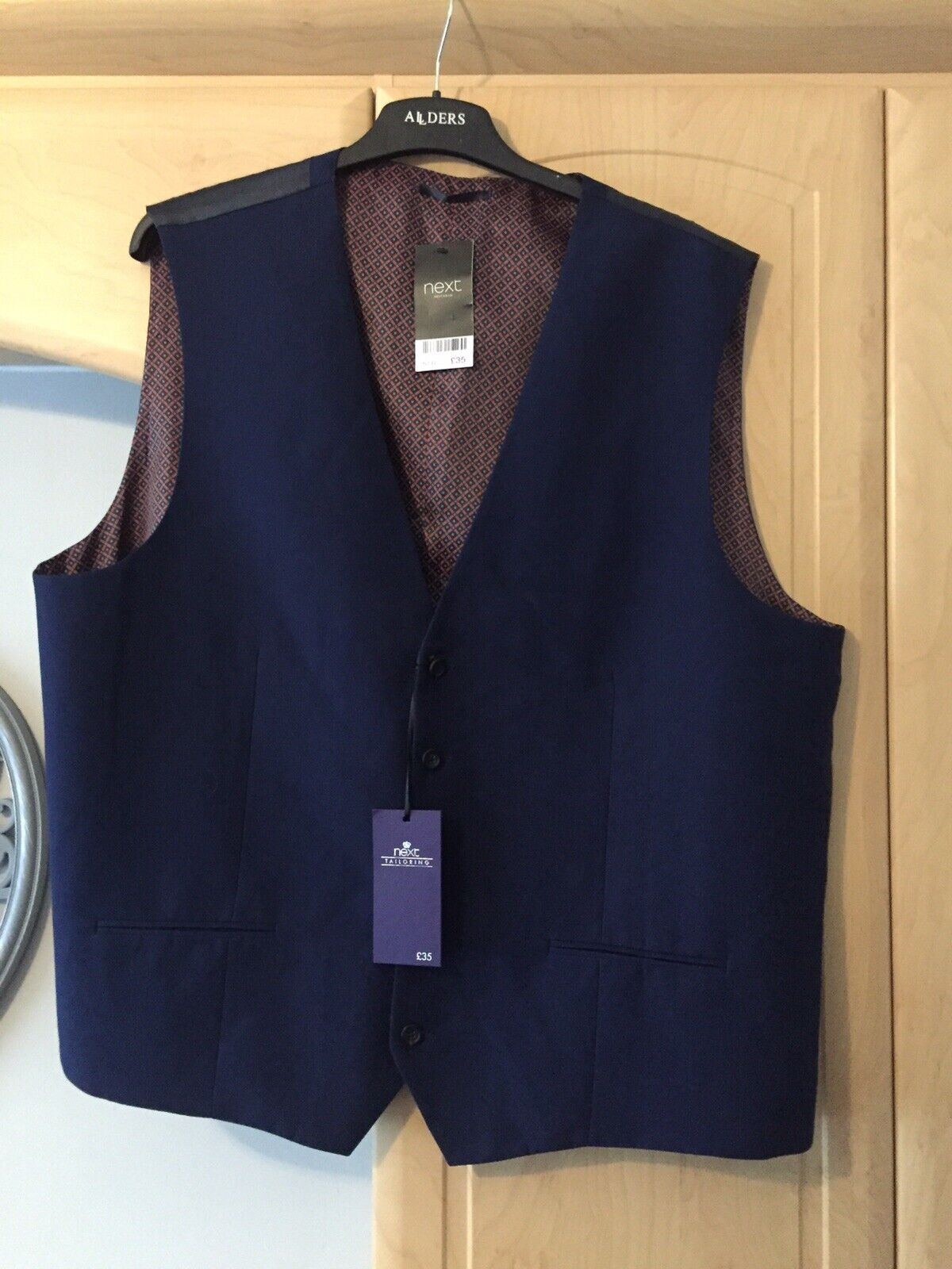Mens Next Blue Waistcoat size 52 reg . New with tags..*******