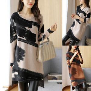Women-Casual-Print-Sweater-Dress-Ladies-Long-Sleeve-Jumper-Winter-Casual-Dresses