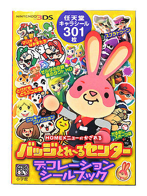Japan Nintendo Sticker Seal Book 301 pcs / Zelda Animal Crossing Stickers