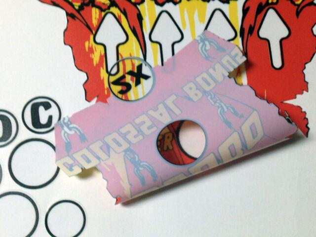 KISS Pinball Machine Playfield Insert Decals with BONUS AREA