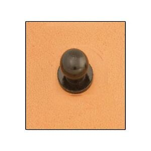 """Button Stud 1/4"""" (7mm) Screwback Black 11309-17 by Tandy Leather"""