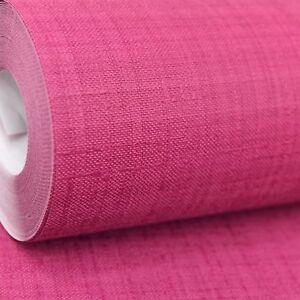 Rasch Lampone Rosso Rosa Scuro Tinta Unita testurizzata vinile Incollare Il Muro Carta Da Parati  </span>