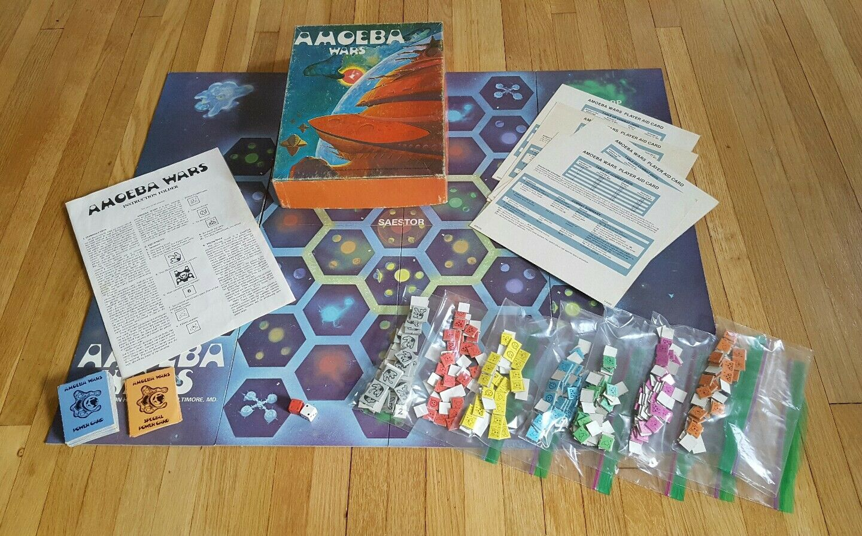 Amoeba Wars (Board Game) Avalon Hill 1981 strategy space 2-6 Players RARE