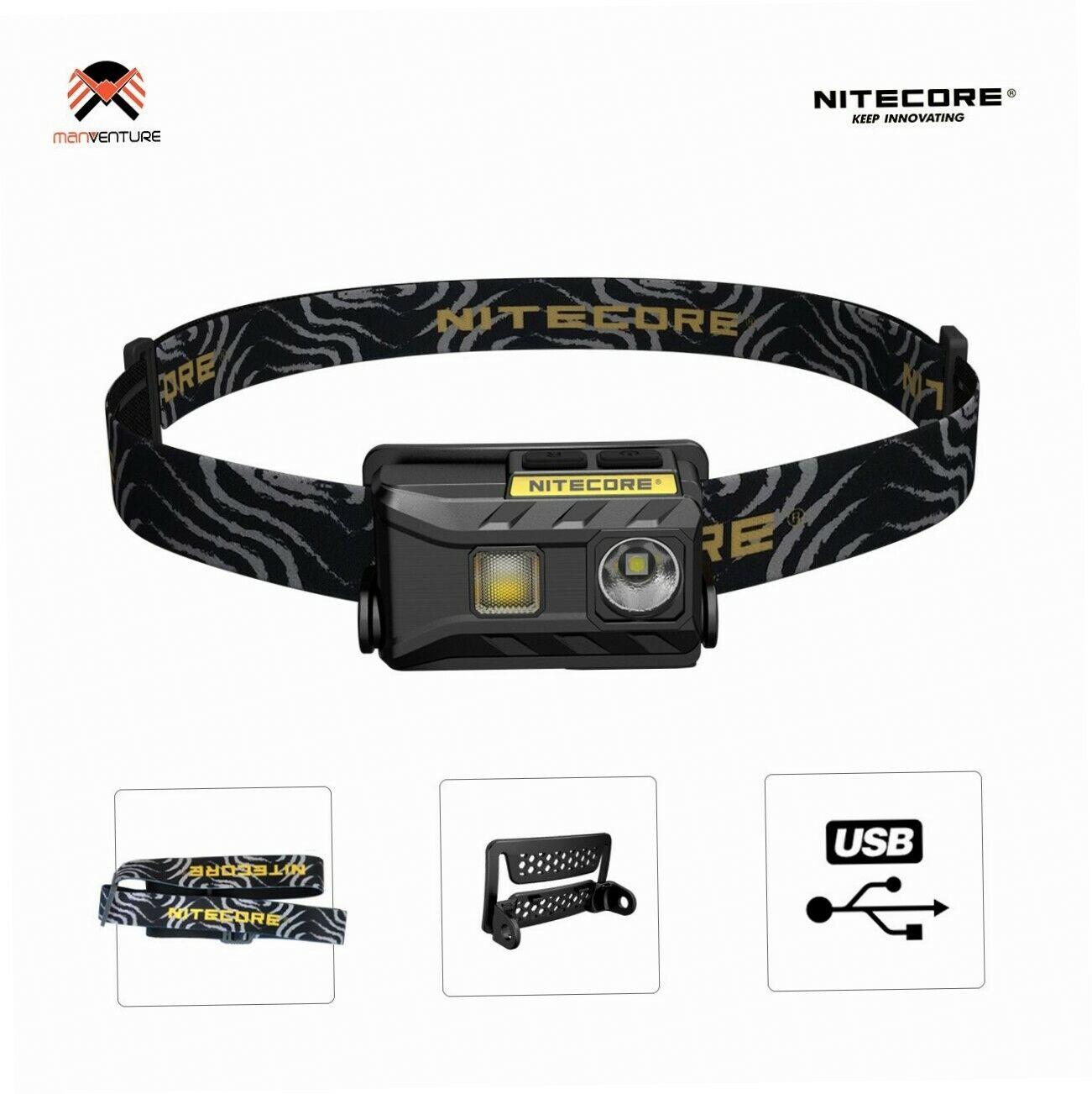Nitecore® NU25 USB Wiederaufladbare LED Stirnlampe IP66 Wasserdichte...