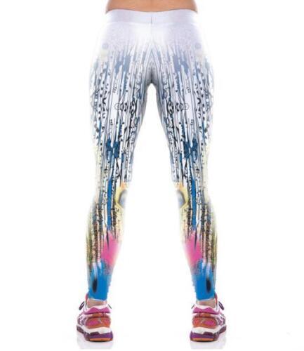 New Wide Belt Legging Peacock feathers Printed High Waist sport legging