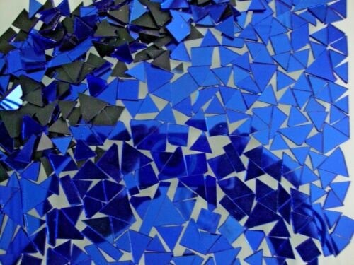 1.6 mm Off cuts Royal Blue Glass Mirror Art/&Craft, 500 pieces