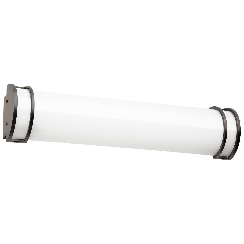 Sunlite 24  LED accesorio vanidad con acabado bronce, 4000K blancoo frío, regulable