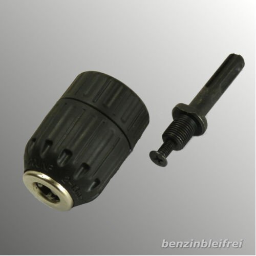 """Schnellspann-Bohrfutter 2-13mm Spannweite Gewinde 1//2/"""" mit SDS Plus Adapter TOP"""