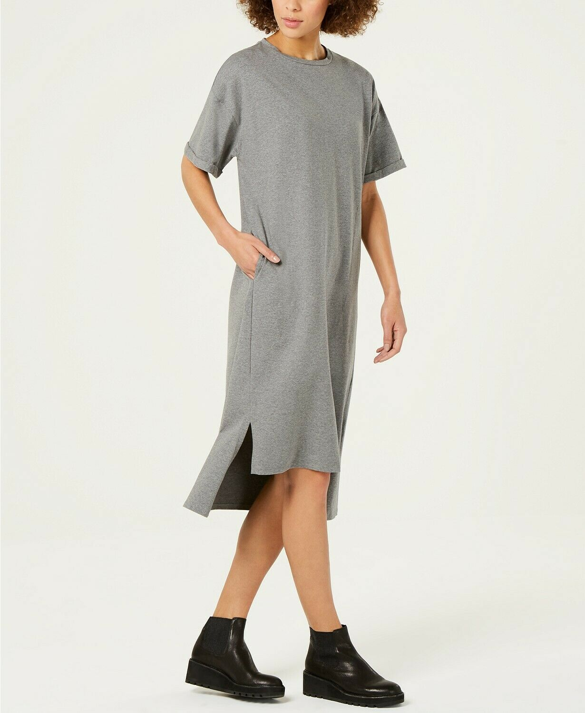 Nouve178 Eileen Fisher XS, S, XL Moon Jewel cou à manches courtes robe