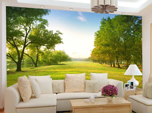 3D Grassland Trees 12 Wall Paper wall Print Decal Wall Deco Wall Indoor Murals