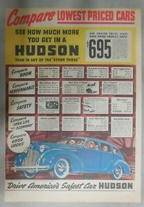 Hudson-Car-Ad-Drive-America-039-s-Safest-Car-from-1939-Size-11-x-15-inches