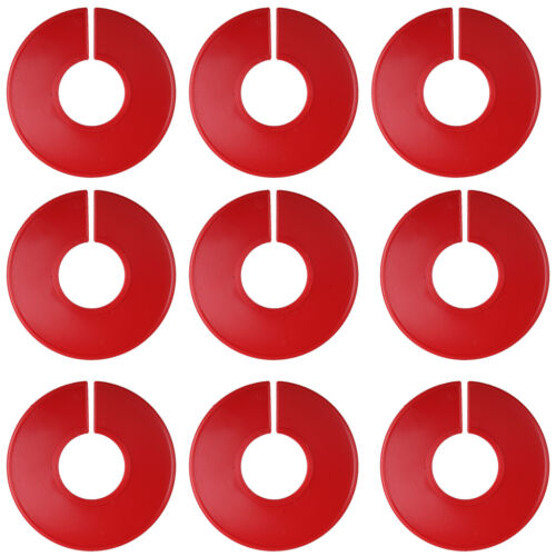 5 Plastic Blanks Red Round Separated Retail Clothing Shelves JB