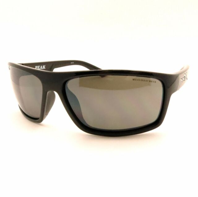 864be34322 OPENBOX Wiley X Peak Grey Silver Gloss Black Acpea01 for sale online ...