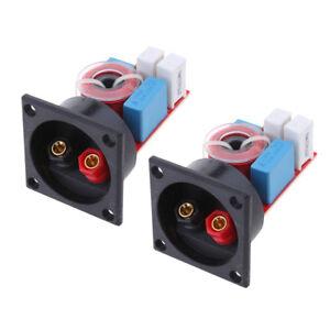 2pcs 2 Way Speakers Crossovers Stereo 80W DIY Adjustable ...