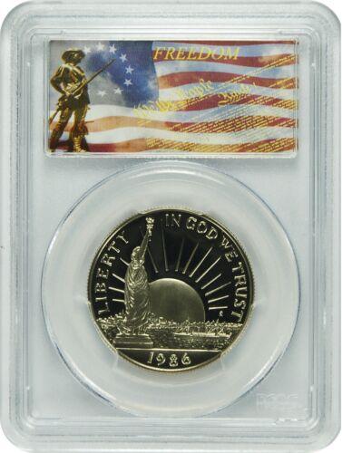 1986-S PCGS PR69DCAM Statue of Liberty Commemorative Half Dollar Freedom Label