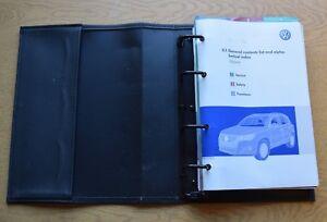 Details about GENUINE VW TIGUAN HANDBOOK OWNERS MANUAL WALLET 2007-2011  PACK K-137