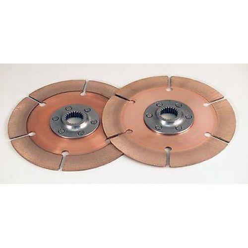 """Tilton 64185-2-AA-36 7.25/"""" Metallic Racing Disc 1-5//32/"""" x 26 Spline 2 Discs"""