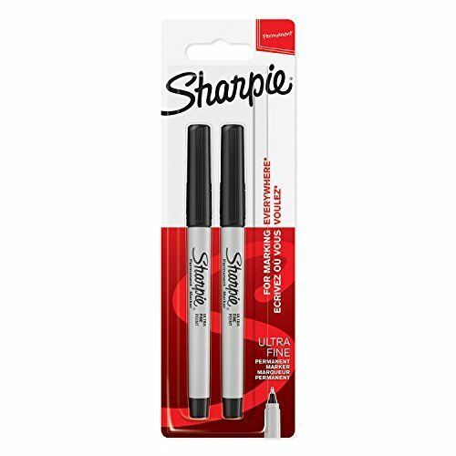 Pack of 2 Sharpie Permanent Markers Black Ultra-Fine Tip