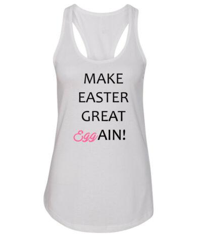 Women/'s Tank Top Make Easter Great Again Eggain T Shirt Pro Trump Funny T-Shirt