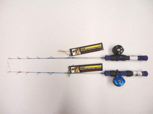 "- TWO Combos MFR-1 Reel /& IB-24 Rod HT 24/"" Ice Blue Ultra Light Combo Panfish"