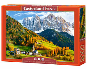 "Brand New Castorland Puzzle 2000 CHURCH OF ST. MAGDALENA 36"" x 27"" C-200610"