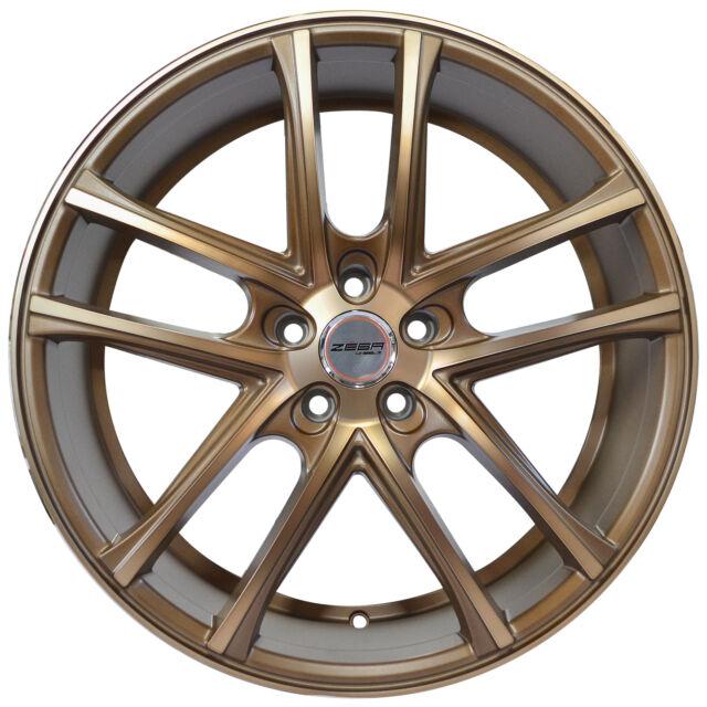 4 GWG Wheels 18 Inch Matte Bronze ZERO Rims Fits ACURA TL