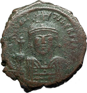 MAURICE-TIBERIUS-582AD-Constantinople-Follis-Ancient-Byzantine-Coin-i66070