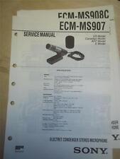 Sony Service Manual~ECM-MS907/MS908C Electret Condenser Microphone~Original