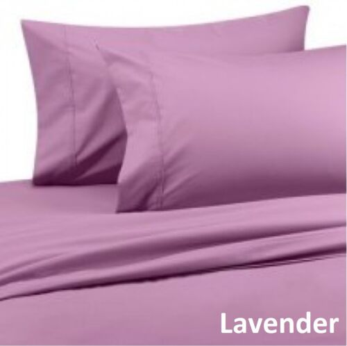 Lavender Solid 1000 TC Egyptian Cotton Bed Sheets Collecction Select Size