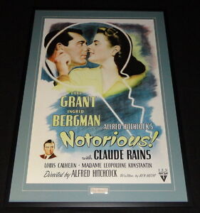 Cary-Grant-Signed-Framed-29x41-Notorious-Photo-Poster-Display-JSA