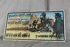 ältere Waffen Reklame - Blechschild Speer Bullets Cowboy + Eisenbahn Arbeiter /O