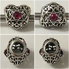 Pandora Signature Heart Openwork July Birthstone Charm Birthday Gift