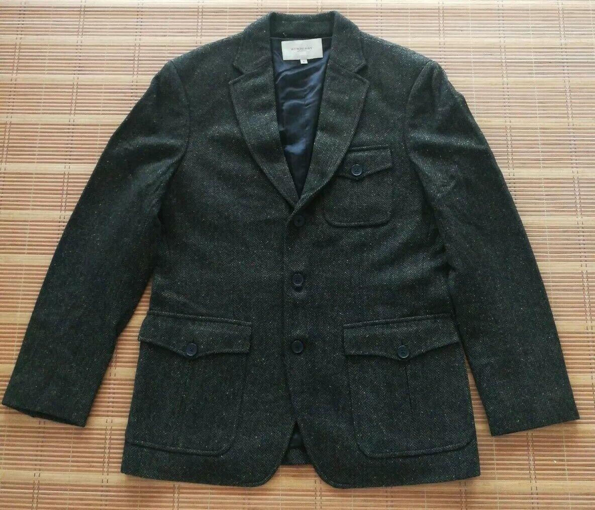 BURBERRY Mens braun Grün Wool Blazer Jacket M Größe SAMPLE SAMPLE SAMPLE 100% Authentic f07