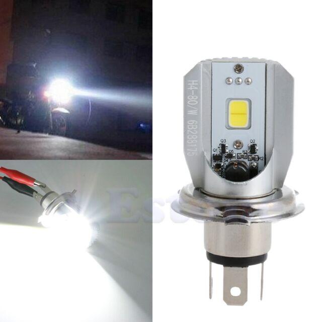 1pc H4 White COB LED Hi/Lo Beam Motorcycle Headlight Front Light Bulb Lamp