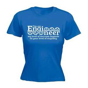 Im An Engineer My Sarcasm Depends On Your Stupidity Funny Joke Civil Job T-SHIRT