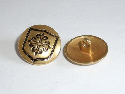 6 trozo de metal botones botón emblema botón 20 mm oro mercancía nueva inoxidable #351.2#