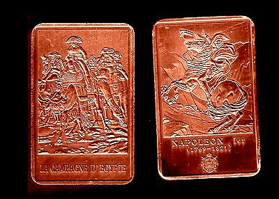 Gemotiveerd ★ Magnifique Medaille Plaquee Bronze ● Napoleon ● En Egypte Sur Un Chameau ★★