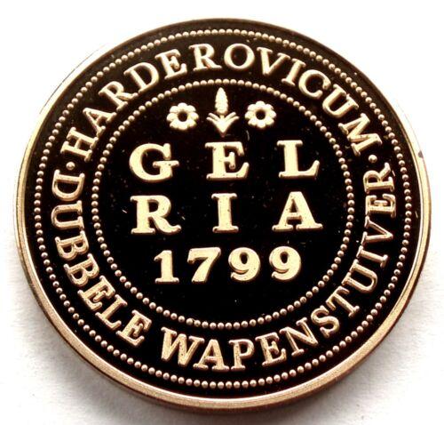 NETHERLANDS HARDERWIJK DUBBELE WAPENSTUIVER 1231-1981 BU Proof 30mm Brass C65