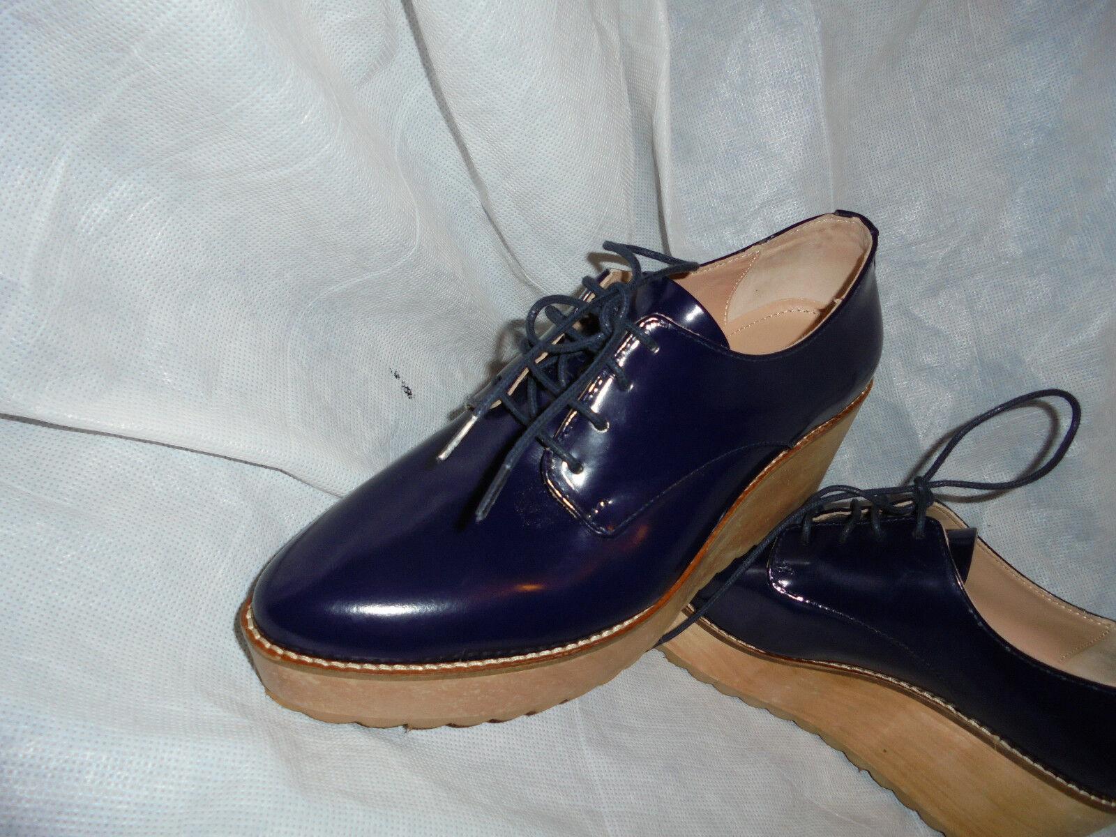 WHISTLE UK WOMEN'S Blau LEATHER LACE UP Schuhe SIZE UK WHISTLE 5 EU 38 VGC 32ef39