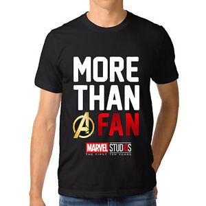 fecb2a9c3 2018 Funny Marvel Studios MORE THAN A FAN 10th Anniversary T-Shirt ...